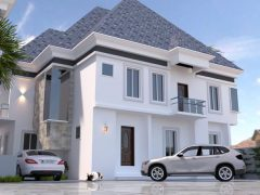 5 Detached House with B/Q at Chevron Alternative Road in a gated Estate with 24/7 security.
